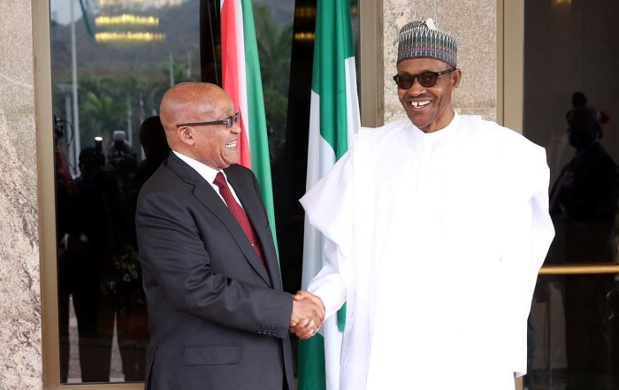 anti-immigration laws Jacob Zuma South Africa Muhammadu Buhari