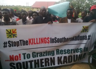 SOKAPU stages mass protest against on-going genocide in Southern Kaduna