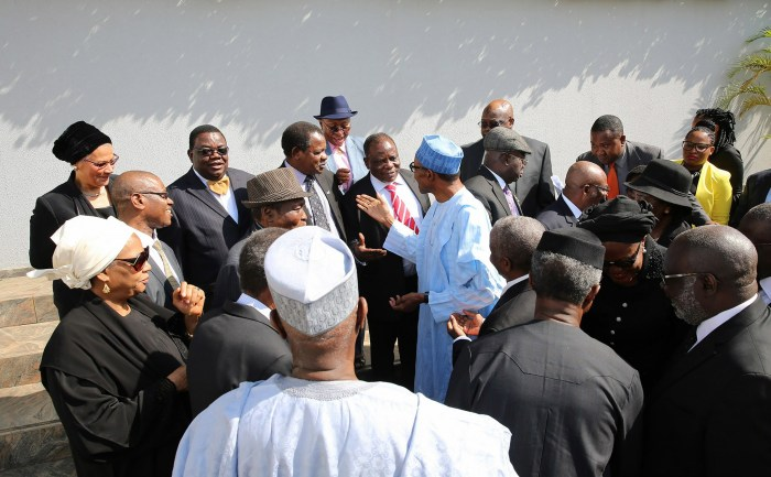President Muhammadu Buhari and dignatories at the swearing in of Justice Walter Onnoghen as the acting chief justice of Nigeria on Thursday, Nov 10, 2016   State House Photo