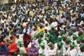 A cross-section of stakeholders of the People's Democratic Party, PDP at a meeting with Governor Olusegun Mimiko on Sunday, Nov 6, 2016 at The DOME, Akure