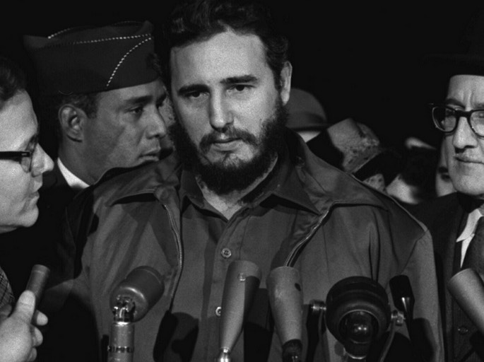 Cuban revolutionary leader, Fidel Castro pictured in the 70s in the height of his movement.