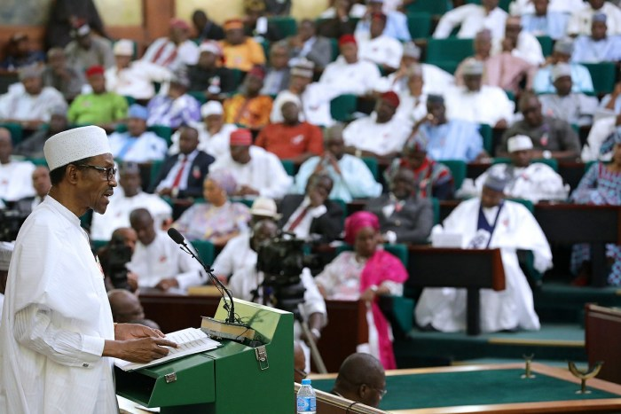 President Buhari presents 2017 National Budget to a joint session of the National Assembly