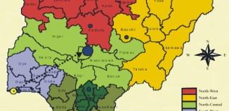 Map of Nigeria north