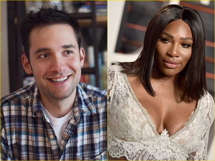 Reddit Co-Founder Alexis Ohanian (right), Tennis Giant Serena Williams
