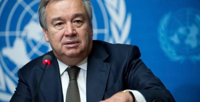 Antonio Guterres, pictured in Geneva, Switzerland