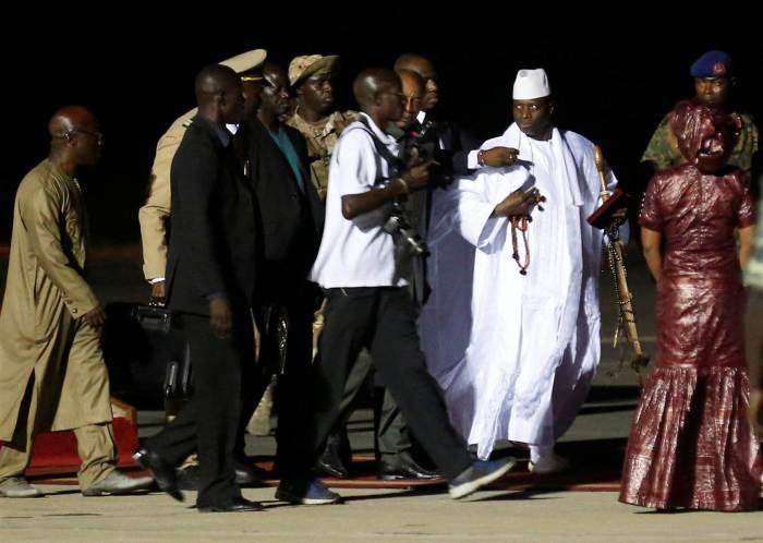 Yahya Jammeh Leaves Gambia The Trent