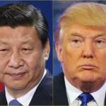 Chinese President Xi Jinping (left); US President Donald Trump China US Europe