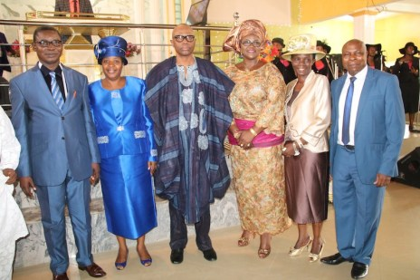 From left; Regional Pastor, RCCG, Region 22, Pastor Idris Umar, his wife, Pastor Roseline, Former Governor of Ondo State, Dr Olusegun Mimiko and his Wife, Olukemi, Pastor in Charge of Province, Ondo Province 2, Pastor Michael Majekobaje and his wife, Pastor Olufunke.
