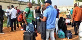 nigerians libya nigerian File: Germany Nigerians deported speaking with journalists