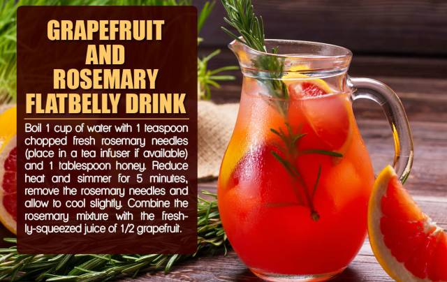 Grapefruit & Rosemary Flat Belly Drink