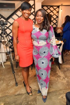 Kate Henshaw and Gbemi Shasore at the IWS Power Breakfast at Sugarcane in Victoria Island on March 8, 2017 | Photo Courtesy of Plug Media