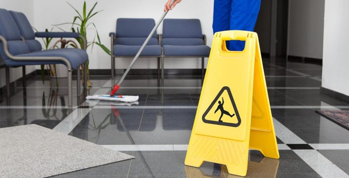 cleaning office building service company large space