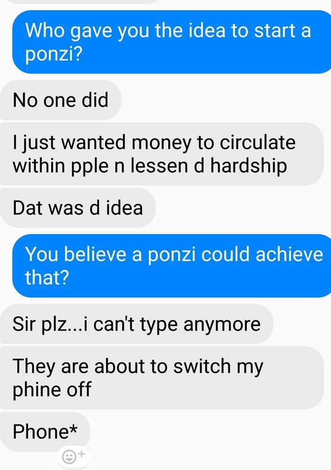 ponzi scheme founder