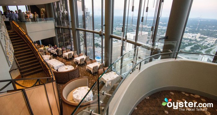 FILE: A restaurant at the Westin Peachtree Plaza Hotel in Atlanta, USA boy