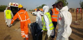 Suicide The bodies of female suicide bombers evacuated from military outpost in Borno by NEMA officials | PR Nigeria