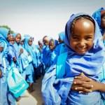 Children play with a ball during a recess at a UNICEF nigeria borno school schoolchildren nigeria