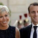 Emmanuel Macron and his wife Brigitte Trogneux