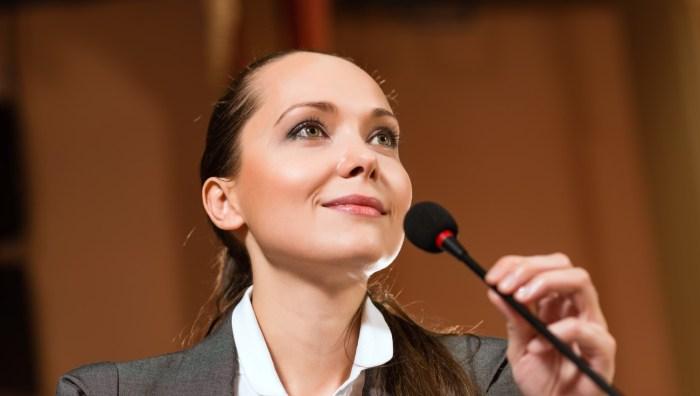 woman speech single
