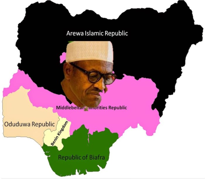 Nigeria flag map biafra arewa middle belt