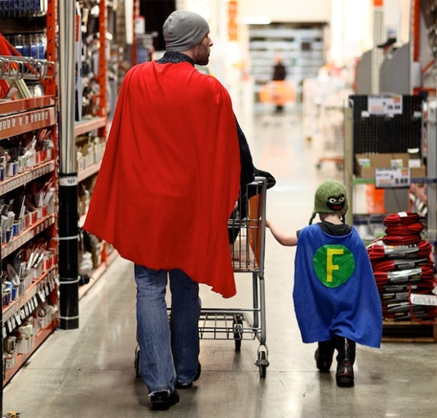 Children Superhero Dad Google Age Father Daughter Son Family Love