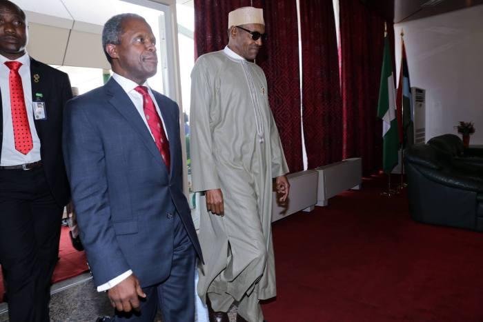 Abba Kyari , NDPHC , Niger Delta Power Holding , Yemi Osinbajo President Muhammadu Buhari and Vice President Yemi Osinbajo