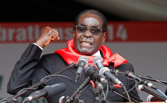 Robert Mugabe, the president of Zimbabwe