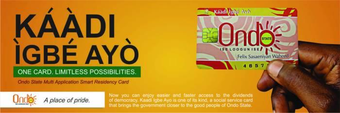 An Ondo government poster promoting Kaadi Igbe Ayo