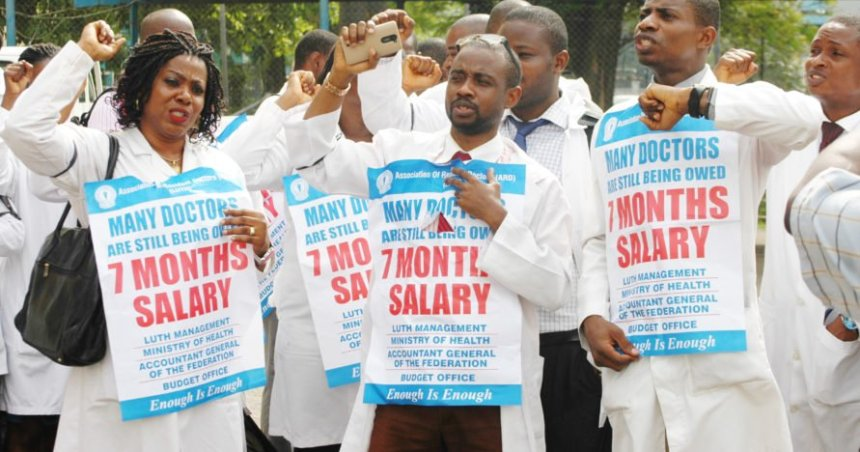 FILE: Resident doctors stage protest in Lagos | NAN Photo