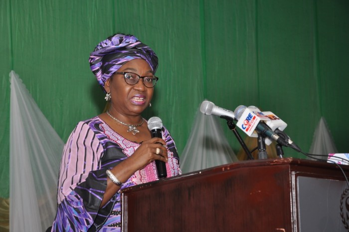 Winifred Oyo-Ita, the head of service of the federation