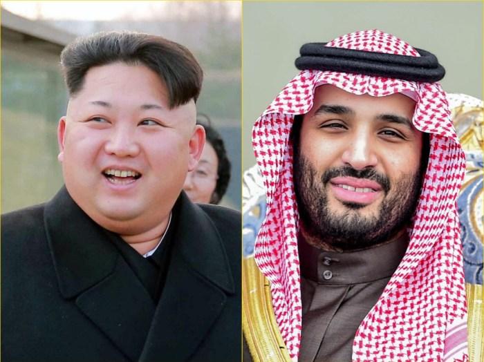 North Korean leader Kim Jong Un (Left); Saudi Arabia Crown Prince Mohammed bin Salman