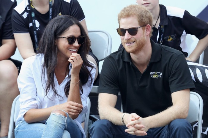 Britain's Prince Harry and American actor Meghan Markle