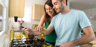 skills couple love cooking kitchen