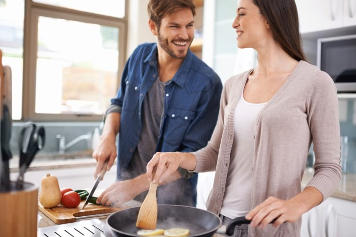 love couple women cooking