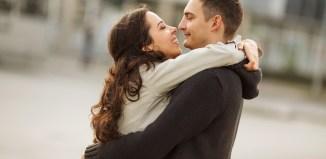 women Romantic couple kiss man
