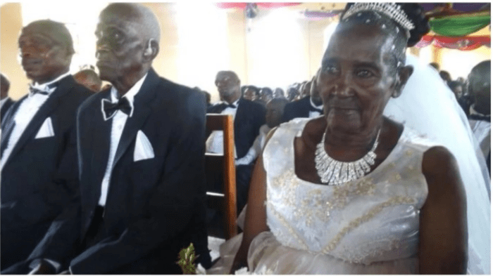 90 Year Old Ugandan Man Weds His 83 Year Old Bride