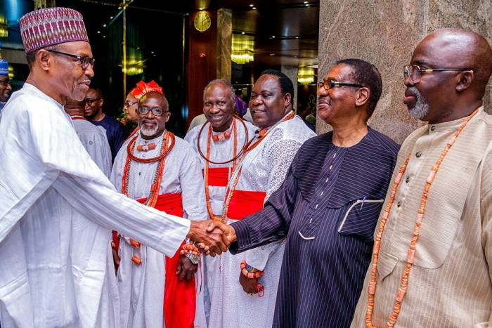 Buhari Receives Olu Of Warri, Promises Rapid Development For Niger Delta (PHOTOS)