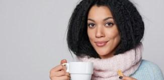 woman brain power coffee