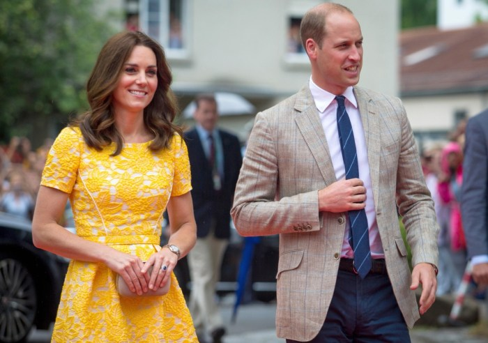 Prince William of the British Royal Family with his wife, Catherine Middleton, the Duchess of Cambridge Kate