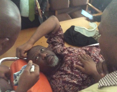 Dino Melaye Arraigned In Court On Stretcher (PHOTOS)