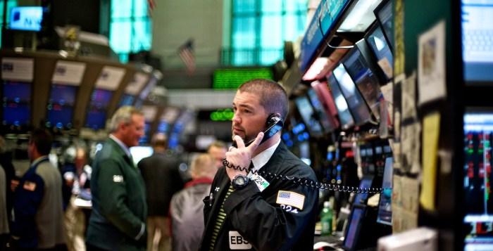 stocks stockbroker wall street