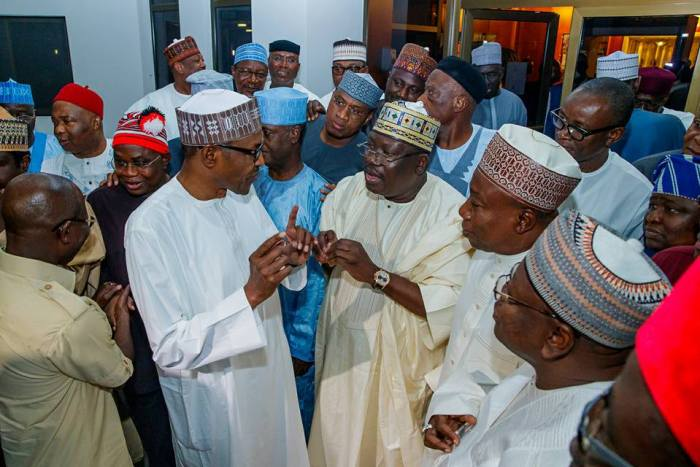 President Buhari receives in Solidarity Visit APC Senators in State House on 25th July 2018 | State House Photo