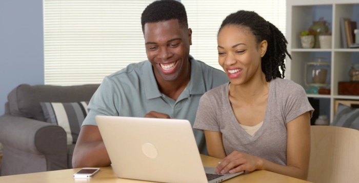 friends with benefits COVID-19, Cyber tips, Couple Laptop Happy Smiling the Trent