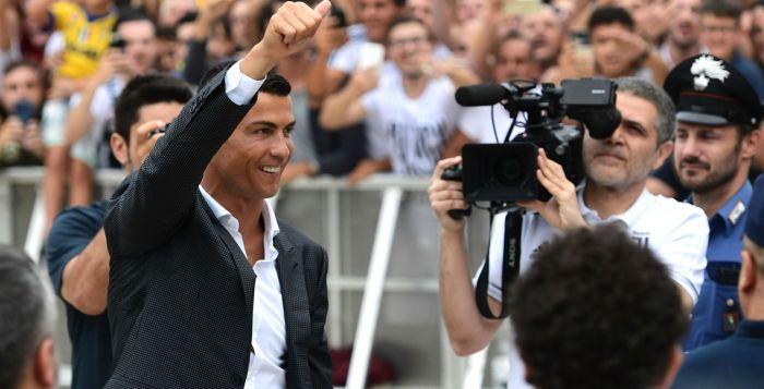 Ronaldo arrives for Juventus medical ahead of sensational €100m transfer