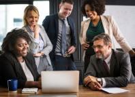 management team workplace global market business team office handshake deal