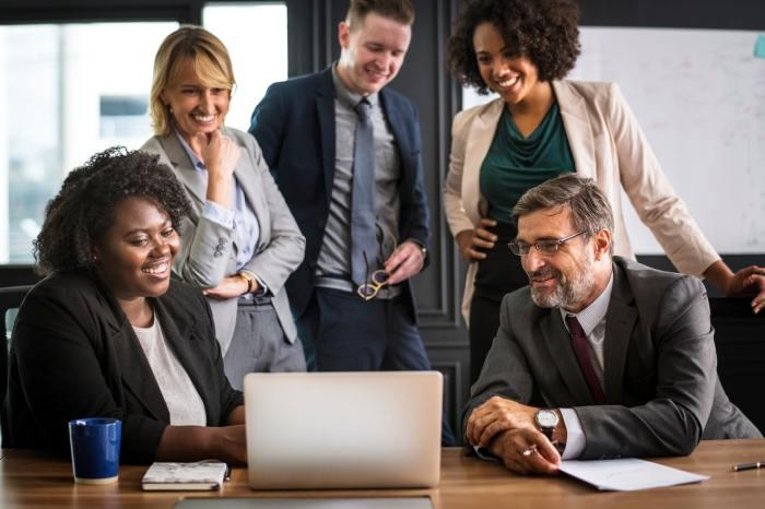workplace global market business team office handshake deal