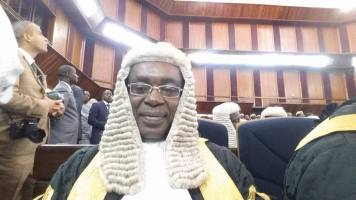Emmanuel Aguma on the day he was sworn in as a Senior Advocate of Nigeria in September 2015