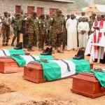 Burial of 11 slain soldiers in Kaduna on March 29, 2018 | Abdulganiu Alabi