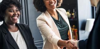 pexels-photo-1181212business woman smiling businesswoman professional laptop