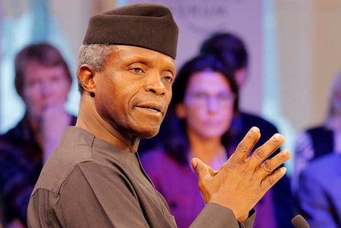 Nigeria's Vice-President Yemi Osinbajo