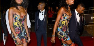 Naomi Campbell made sure she remained in the spotlight as she arrived with Nigerian Singer, Wizkid fashionably late to the 21st annual GQ Men Of The Year Awards 2018, London, on Wednesday, Sep 5, 2018   Tony Clark/Splash News